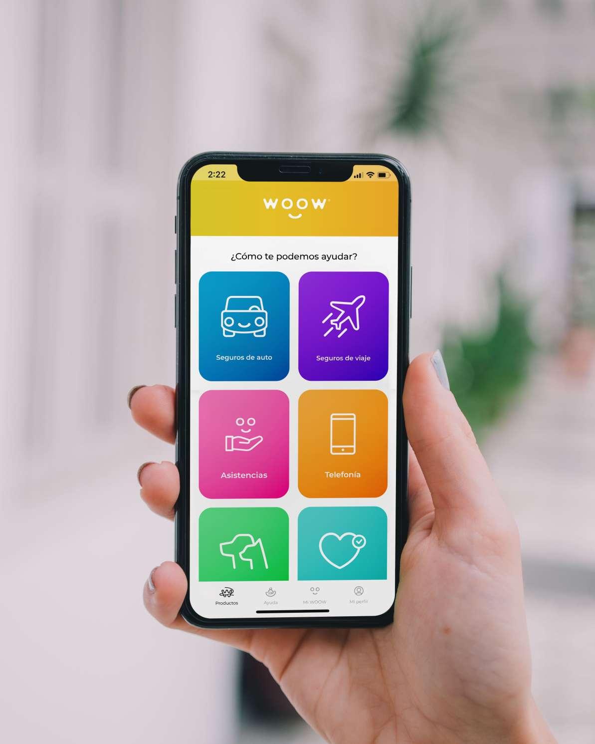App WOOW en la sección de Productos